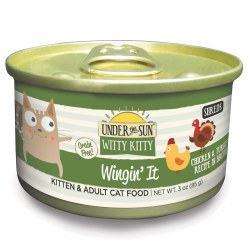 Under The Sun Witty Kitty Wingin' It Canned Cat Food 3oz