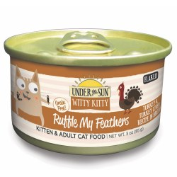 Under The Sun Witty Kitty Ruffle My Feathers Canned Cat Food 3oz