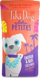 Aloha Petites Chicken & Beef Loco Moco Pouch Dog Food 3.5oz