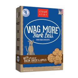 Wag More Bark Less Bacon, Cheese & Apples Oven Baked Dog Treats 16oz