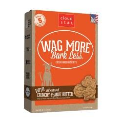 Wag More Bark Less Crunchy Peanut Butter Oven Baked Dog Treats 16oz