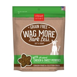 Wag More Bark Less Chicken & Sweet Potato Soft and Chewy Dog Treats 5oz
