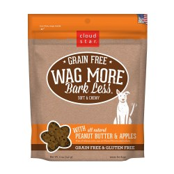 Wag More Bark Less Peanut Butter & Apples Soft and Chewy Dog Treats 5oz