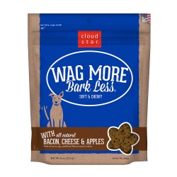 Wag More Bark Less Bacon, Cheese & Apples Soft and Chewy Dog Treats 6oz