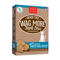 Wag More Bark Less Smooth Aged Cheddar Oven Baked Dog Treats 14oz