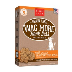 Wag More Bark Less Peanut Butter & Apples Oven Baked Dog Treats 14oz
