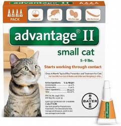 advantage II Cat Flea Treatment (5-9lb) 4pk