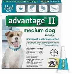 advantage II Dog Flea Treatment (11-20lb) 4pk