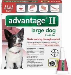 advantage II Dog Flea Treatment (21-55lb) 4pk