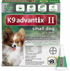 K9 advantix Dog Flea & Tick Treatment (up to 10lb) 4pk