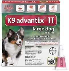 K9 advantix Dog Flea & Tick Treatment (21-55lb) 4pk