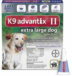 K9 advantix Dog Flea & Tick Treatment (over 55lb) 4pk