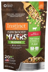 Raw Boost Mixers Blends Beef Recipe Freeze Dried Dog Meal Topper 5.5oz