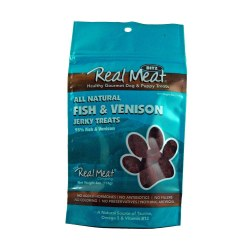 Jerky Bitz Fish & Venison Dog Treats 4oz
