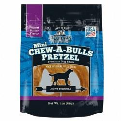Chew-A-Bull Peanut Butter Flavor Mini Pretzel Dog Chew