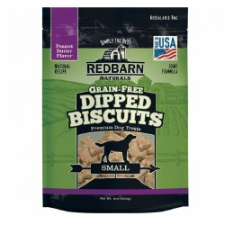 Grain Free Peanut Butter Dipped Dog Biscuits Small 9oz