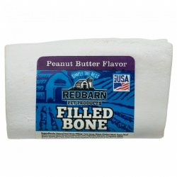 Peanut Butter Flavor Filled Bone Dog Chew Small
