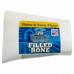 Cheese & Bacon Flavor Filled Bone Dog Chew Small