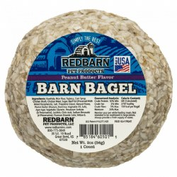 Peanut Butter Flavor Barn Bagel Dog Chew