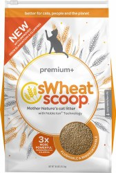 sWheat Scoop Premium+ All-Natural Clumping Cat Litter 25lb