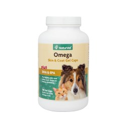 Omega Skin & Coat Gel Caps for Dogs and Cats 180ct