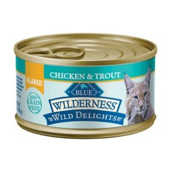Wild Delights Flaked Chicken & Trout Canned Cat Food 5.5oz