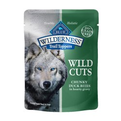 Trail Toppers Wild Cuts Chunky Duck Bites Dog Meal Topper 3oz