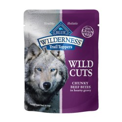 Trail Toppers Wild Cuts Chunky Beef Bites Dog Meal Topper 3oz