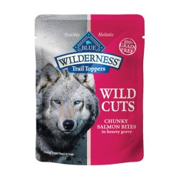 Trail Toppers Wild Cuts Chunky Salmon Bites Dog Meal Topper 3oz