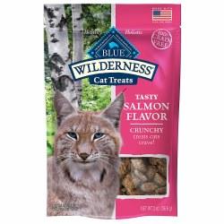 Tasty Salmon Flavor Crunchy Cat Treats 2oz