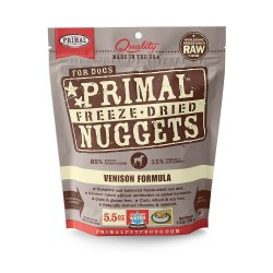 Nuggets Venison Formula Raw Freeze Dried Dog Food 5.5oz