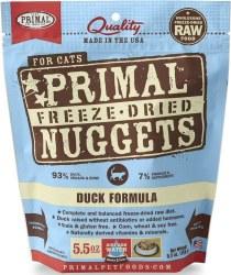 Nuggets Duck Formula Raw Freeze Dried Cat Food 5.5oz