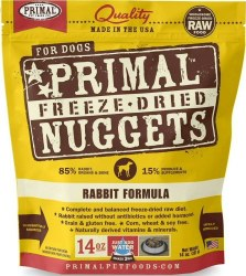 Nuggets Rabbit Formula Raw Freeze Dried Dog Food 14oz