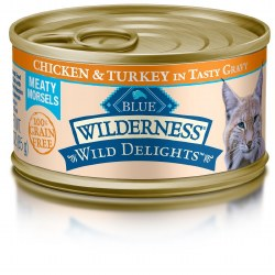 Wild Delights Meaty Morsels Chicken & Turkey Canned Cat Food 3oz