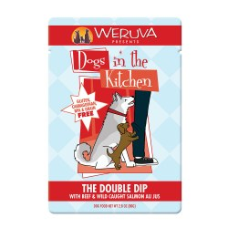 Dogs in the Kitchen The Double Dip Dog Food Pouch 2.8oz