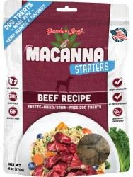 Starters Macanna Beef Freeze Dried Dog Treats 6 oz