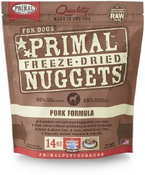 Nuggets Pork Formula Raw Freeze Dried Dog Food 14oz