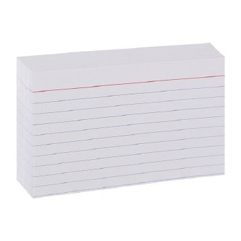 INDEX CARDS 3X5 RULED
