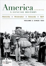 AMERICA CONCISE HISTORY VOL II