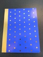 COMP BOOK BRIGHT BLUE DOTS