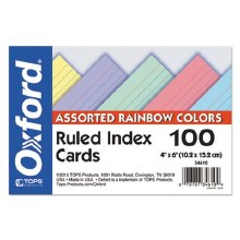 INDEX CARDS COLORED 4x6 100CT