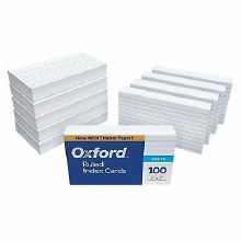 INDEX CARDS RULED 100 CT