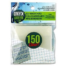 NOTES ADHESIVE CLEAR ONYX
