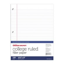 COLLEGE RULED PAPER 150 SHEETS