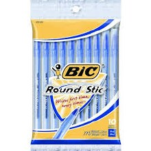 PEN BIC ROUND STICK BLUE EXTRA-LIFE 10 PACK