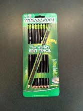 PENCIL TICONDEROGA BLACK 10PK