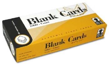 VIS-ED CARDS BLANK 1000