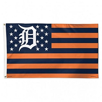 Detroit Tigers Flag Stars and Stripes Deluxe 3' x 5'