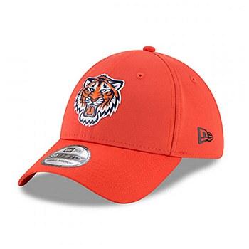 Detroit Tigers New Era On-field Prolight Batting Practice 39Thirty Small-Medium Orange 2018