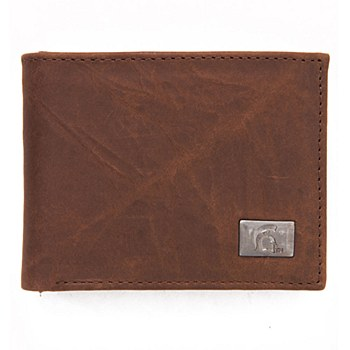 Michigan State University Wallet Brown Bi Fold Leather